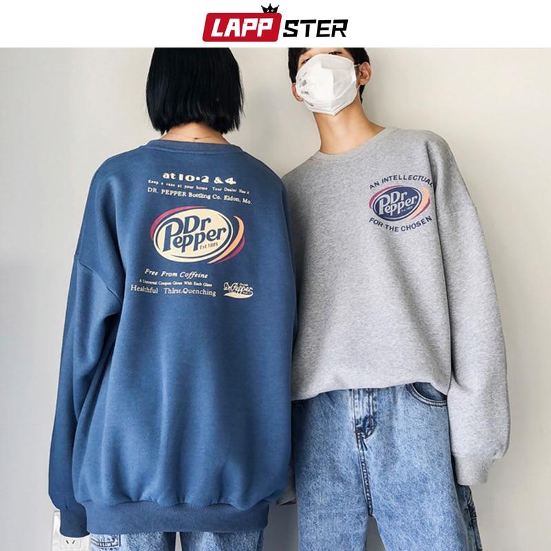 LAPPSTER Men Oversized Graphic Hoodies 2020 Fall Mens Harajuku Korean Fashions Sweatshirts Hoodie Hip Hop Colorful Hoodie 2XL
