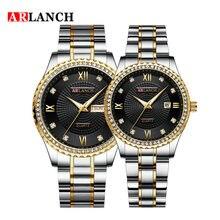 Двойной календарь алмаз парные кварцевые часы Топ Элитный бренд