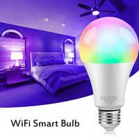 Bombilla inteligente con WiFi, 2700-6500K, 8W, RGB, atenuador, Color ajustable, para Apple HomeKit, APP de monitoreo, lámpara mágica