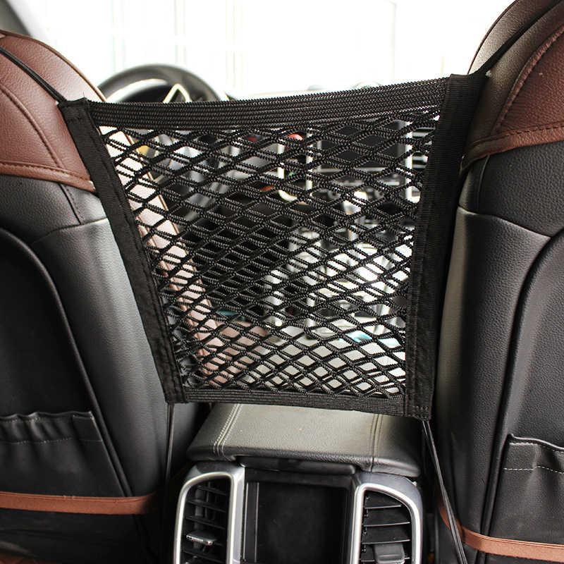 اكسسوارات السيارات المنظم سيارة جذع مقعد الظهر حقيبة السيارات تخزين البضائع حامل شبكة العالمي للسيارات الأمتعة شبكات جيب السفر