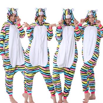 Zwierząt Cosplay zestawy piżam rodzina Kigurumi jednorożec piżama Zebra kostium chłopiec dziewczyna zima Onesie piżama bluza z kapturem na boże narodzenie kombinezony tanie i dobre opinie Poliester CN (pochodzenie) Unisex Pasuje mniejszy niż zwykle proszę sprawdzić ten sklep jest dobór informacji Flanelowe