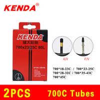 2 pièces KENDA vélo chambre à air 700C 23C 25C 35C 45C caméra Schrader Presta valve chambre à air VTT chambres à air