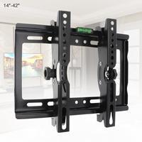 Универсальный 45 кг регулируемый настенный кронштейн для телевизора Держатель подставка поддержка 15 градусов наклон для 14-42 дюймов LCD LED мон...