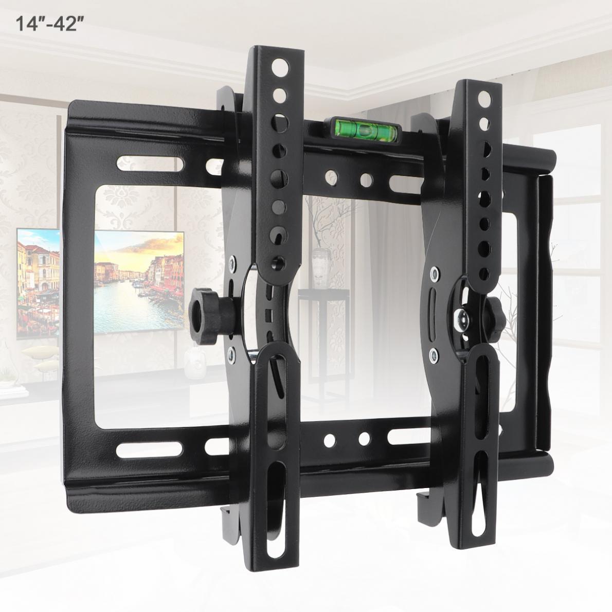 Support de montage mural TV universel réglable 45KG Support de Support TV inclinaison de 15 degrés pour écran plat LCD moniteur LED 14-42 pouces
