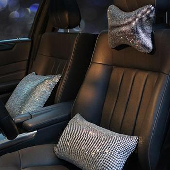 Lady Rhinestone Car Shoulder Neck Protection Pillow Auto Interior Accessories image