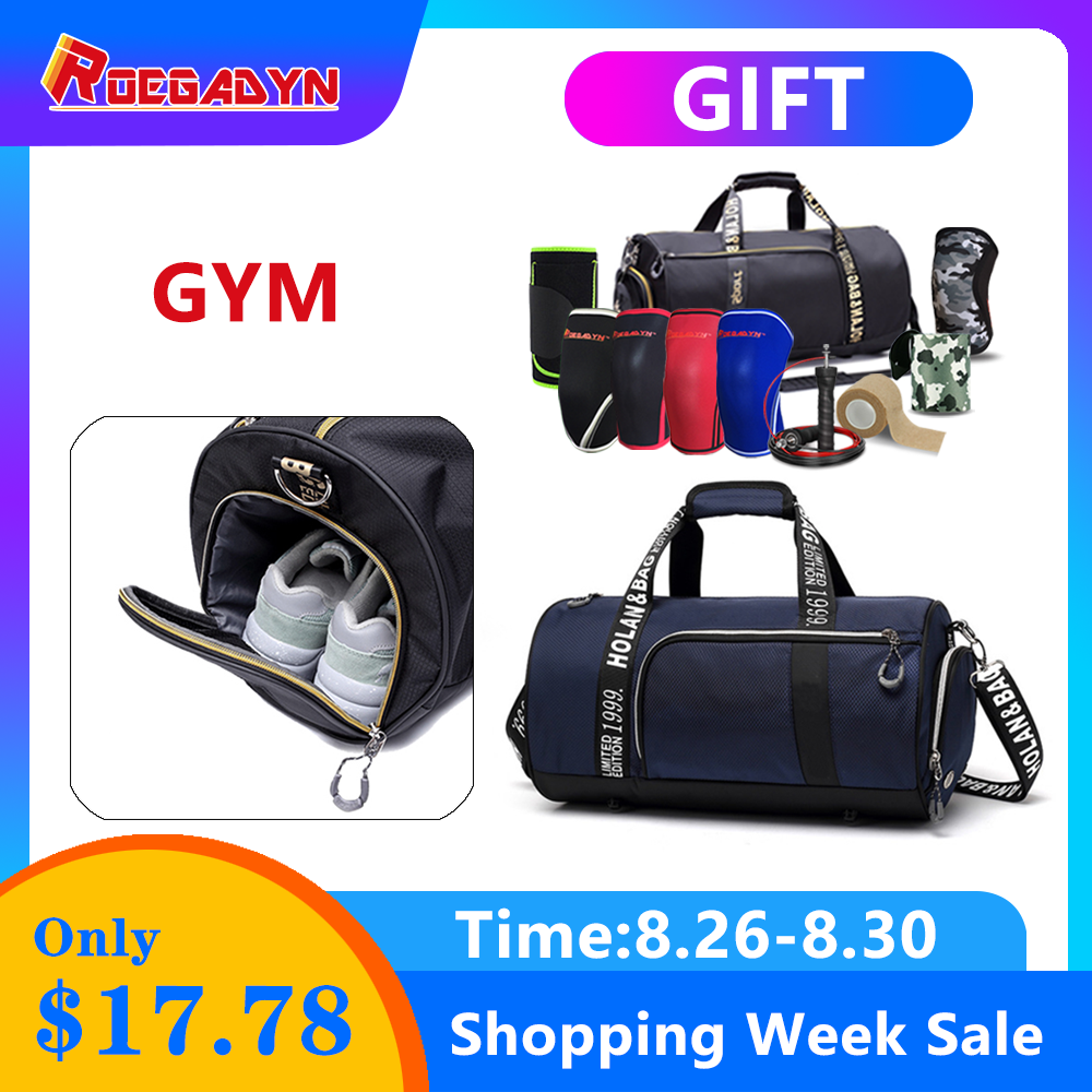 ROEGADYN Sports-Bags Handbag Shoes Gym-Bag Compartment Fitness Small Women Outdoor Waterproof