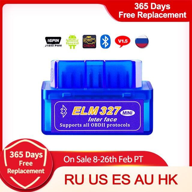 Bluetooth ELM327 OBD2 Ii Auto OBD2 Diagnostic Interface Scanner Reader Tool