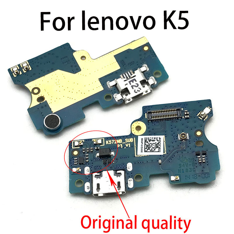 New For Lenovo S5 K5 Z5 Pro Z6 Lite Dock Connector Micro USB Charger Charging Port Flex Cable Microphone Board
