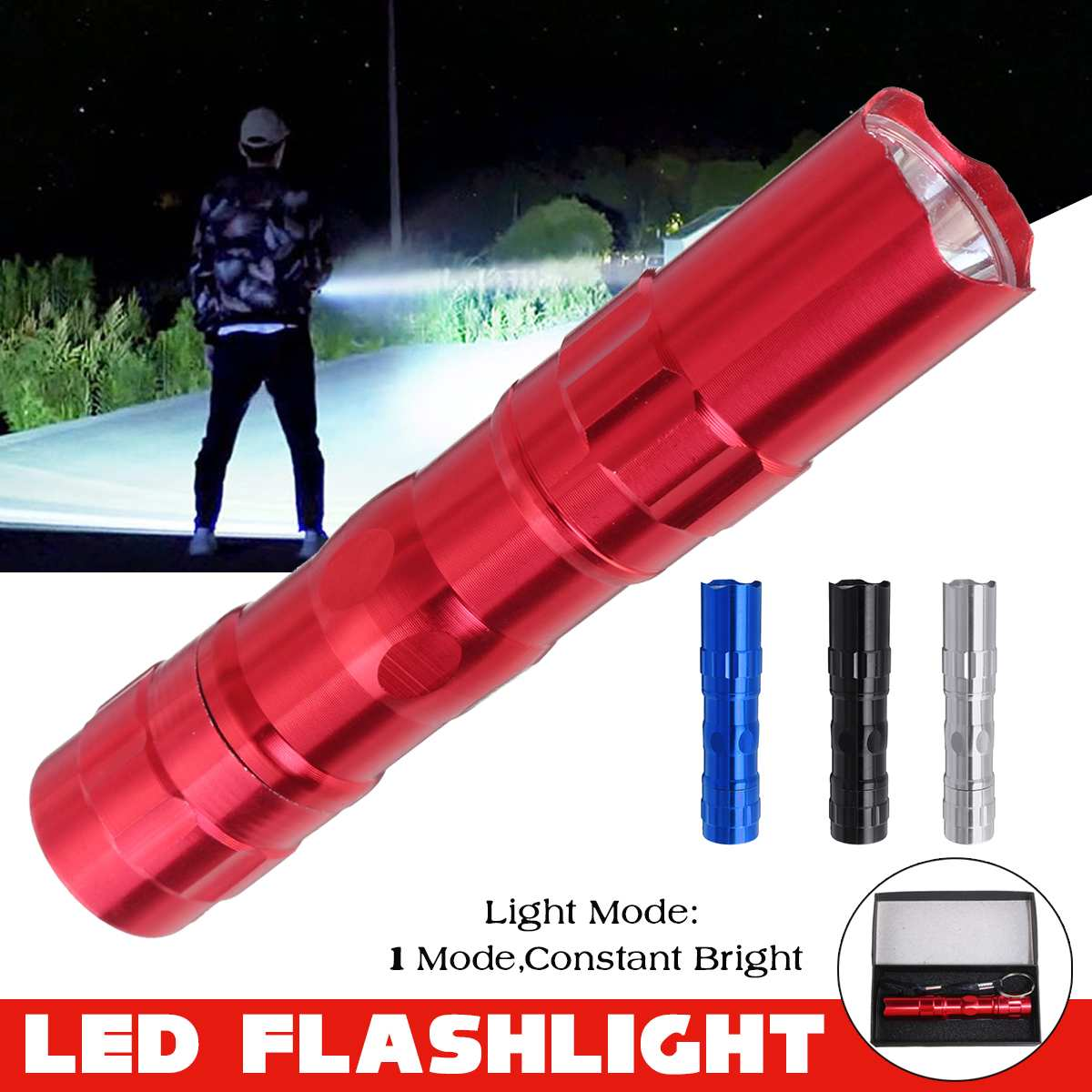 Waterproof Aluminum Mini LED Flashlights Portable Flash Light Camping Light Torch Pocket Light Waterproof Bicycle Lamp Outdoor