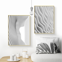 Wall Art Canvas Painting Abstract Art Poster Gray And White Line Space Art Home Picture Graffiti Bedroom Modern Decoration modern black swan and white swan canvas painting print poster picture home bedroom wall art painting decoration can be customize