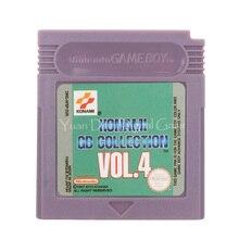 Para nintendo gbc jogo de vídeo cartucho console cartão coleção konami gb vol.4 versão em inglês