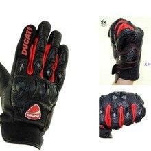 Ducati кожаные перчатки Внедорожные мотоциклетные перчатки кожаные
