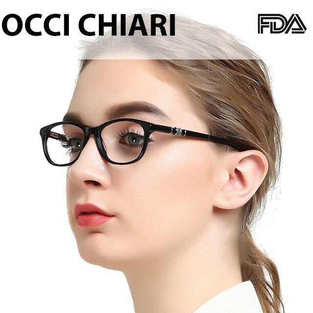 OCCI CHIARI monturas de gafas para mujer, anteojos de ordenador con montura de luz azul, gafas graduadas ópticas de tamaño pequeño OC7061