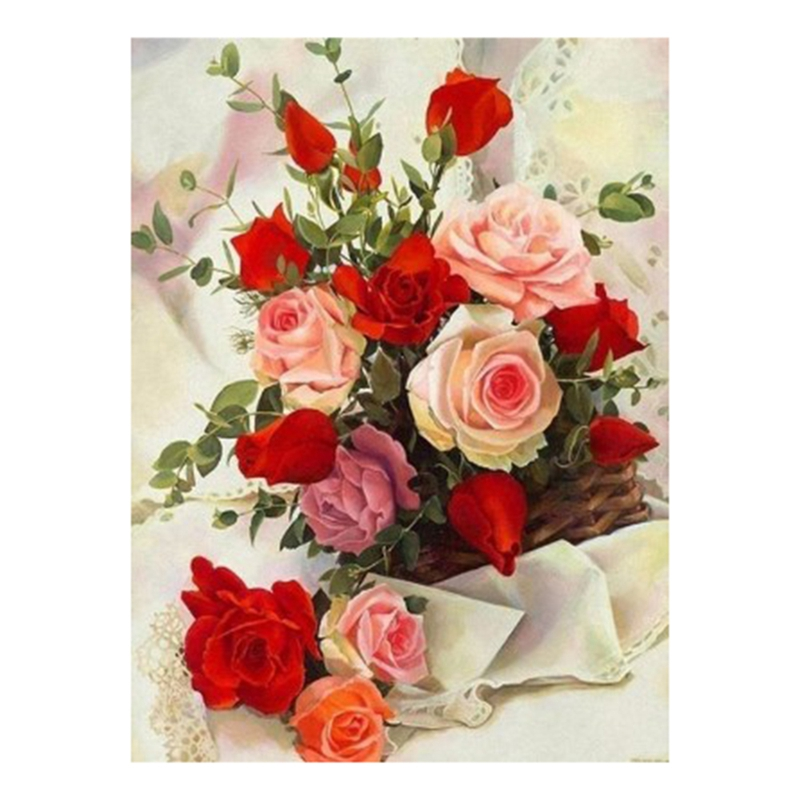 5D DIY Diamond Painting Flowers Full Square New Arrival Drill Mosaic Diamond Embroidery Rose Garden Decoration