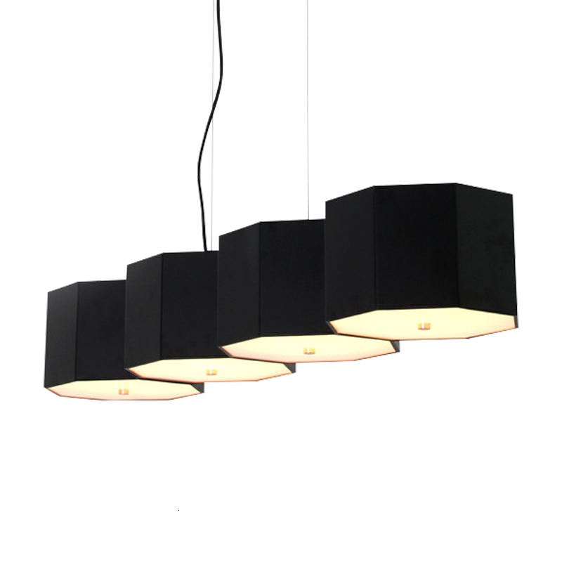 Modern Multi Geometric Led Ceiling Black Nordic European Wire Chandeliers Pendant Hang Lamp With Adjustable Height Hanging Lamp
