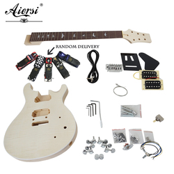 China Aiersi Unfinished DIY PRS Elektrische Gitarre Kits Mit Alle Hardwares EK-010