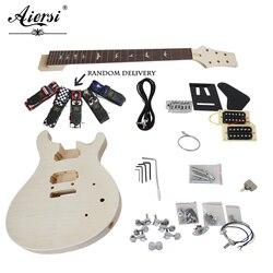 Chiny Aiersi niedokończone DIY niestandardowe 24 SE PRS elektryczne zestawy gitarowe ze wszystkimi Hardwares i instrukcją BookEK-010