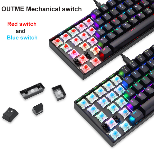 New Original Motospeed CK61 Gaming Mechanical Keyboard USB Wired 61 keys RGB LED Backlight Red Blue switch for PC Computer Gamer 5