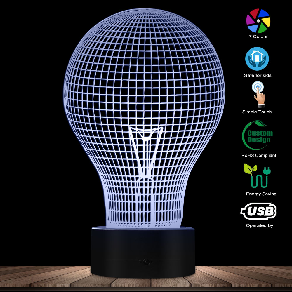 Light Bulb Novelty Lighting Electric Lamp Old-fashioned Technology Creativity Glowing Night Light Energy Efficient Table Lamp