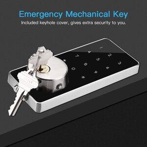 Image 4 - חכם מנעול Keyless כניסת דלת בריח דיגיטלי אלקטרוני Bluetooth מנעול דלת עם לוח מקשים נעילה אוטומטית בית מגע מסך נעילה