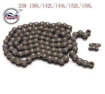 136 138 140 142 144 146 148 150 152 154 156 158 160 25H łańcuch Master linki do 47cc 49cc Mini Dirt ATV Minimoto tanie i dobre opinie CSPART CLXX1-1 Iso9000 Zestawy łańcuchowe 0 2kg Chain