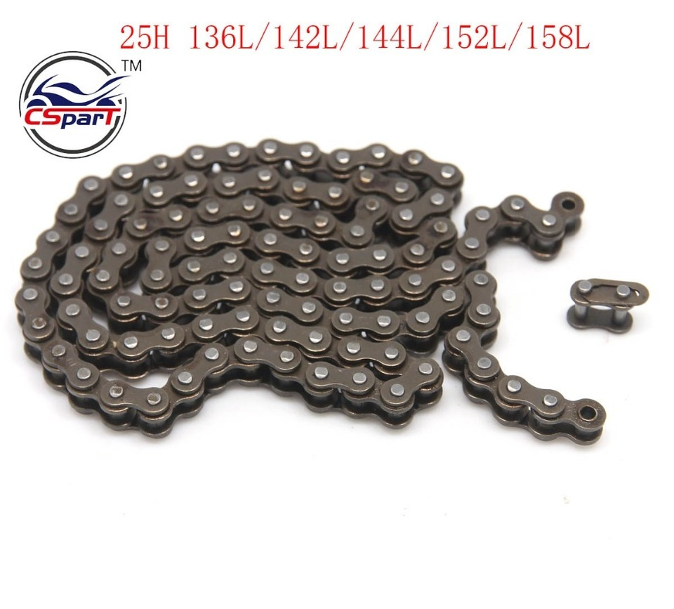 PRO BAT 25H 132 Links Chain With 2Pcs Master Link For 47cc 49cc ATV Quad Scooter Mini Dirt Pocket Bike Minimoto