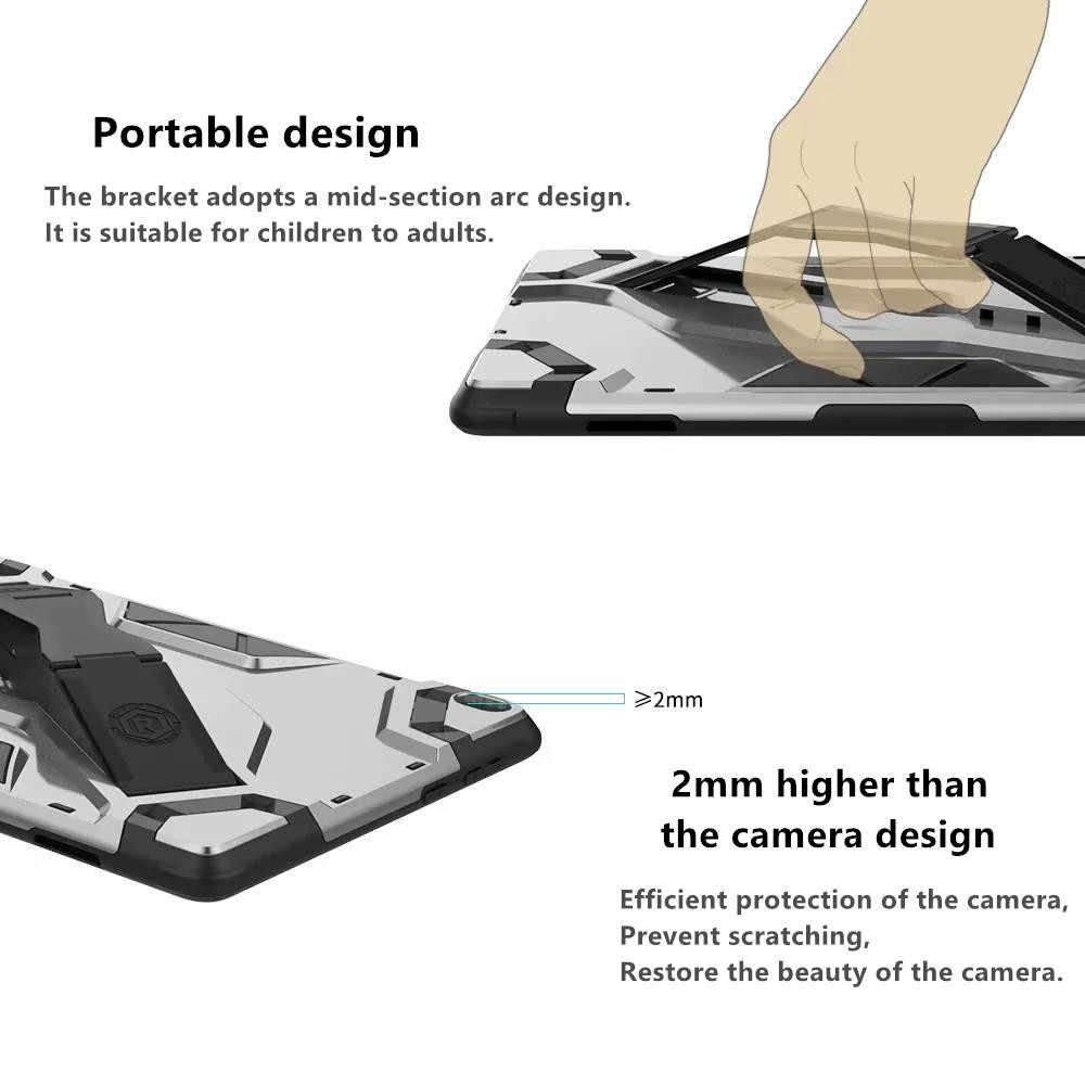 Zware Bescherming Tablet Case Voor Lenovo Tab P10 TB-X705F TB-X705L 10.1 inch Hand Strap Stand Cover Voor Lenovo P10 case + Pen