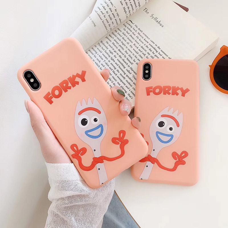 Cartoon <font><b>Toy</b></font> <font><b>Story</b></font> Forky phone case For <font><b>iphone</b></font> XR XS MAX X Funny Drawing soft Shell For <font><b>iPhone</b></font> 8 7 Plus 6 6splus Case Coque <font><b>Funda</b></font> image