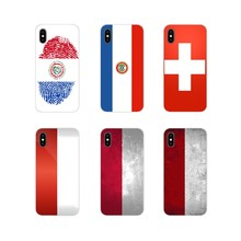 For HTC One U11 U12 X9 M7 M8 A9 M9 M10 E9 Plus Desire 630 530 628 816 820 830 TPU Case National flag Poland Switzerland Paraguay(China)