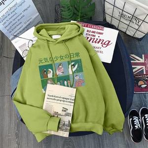 Image 5 - Hoodies Frauen Mit Kapuze Dicker Samt Winter Warme Studenten Pullover Langarm Sweatshirts Harajuku Frauen Streetwear Oversize