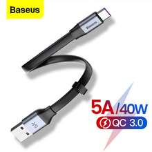 Baseus Type C Cable 5A USB USB C Cable For Huawei P30 P20 Mate 30 20 P10 Pro Lite Fast Charging Charger For Xiaomi Type-c Cable linkpin 5a usb type c cable for huawei mate 30 20 p30 p20 p10 pro lite 40w fast charging charger usb c type c cable wire cord