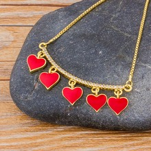 Fashion Female Heart Love Forever Choker Necklaces Crystal Jewelry Simple Ladies Gifts Gold Chain Charm Women Pendant Necklace simple gold color 3d heart pendant choker necklaces for women new fashion trendy chain necklace collar jewelry gifts
