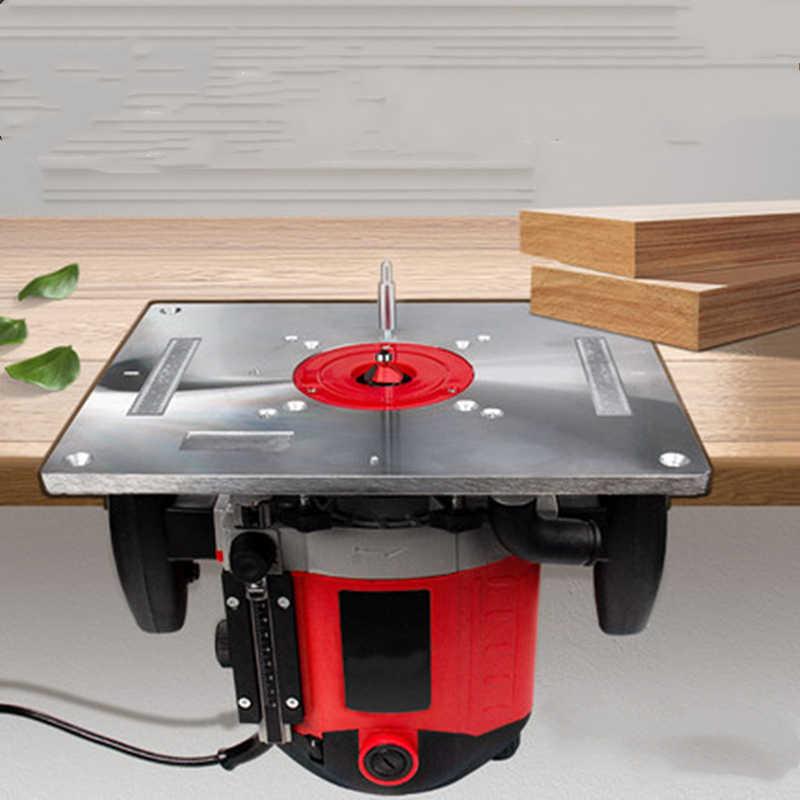 多機能アルミルータ表の挿入プレートトリマー彫刻機木工ベンチルータプレートメサ · デ trabajo