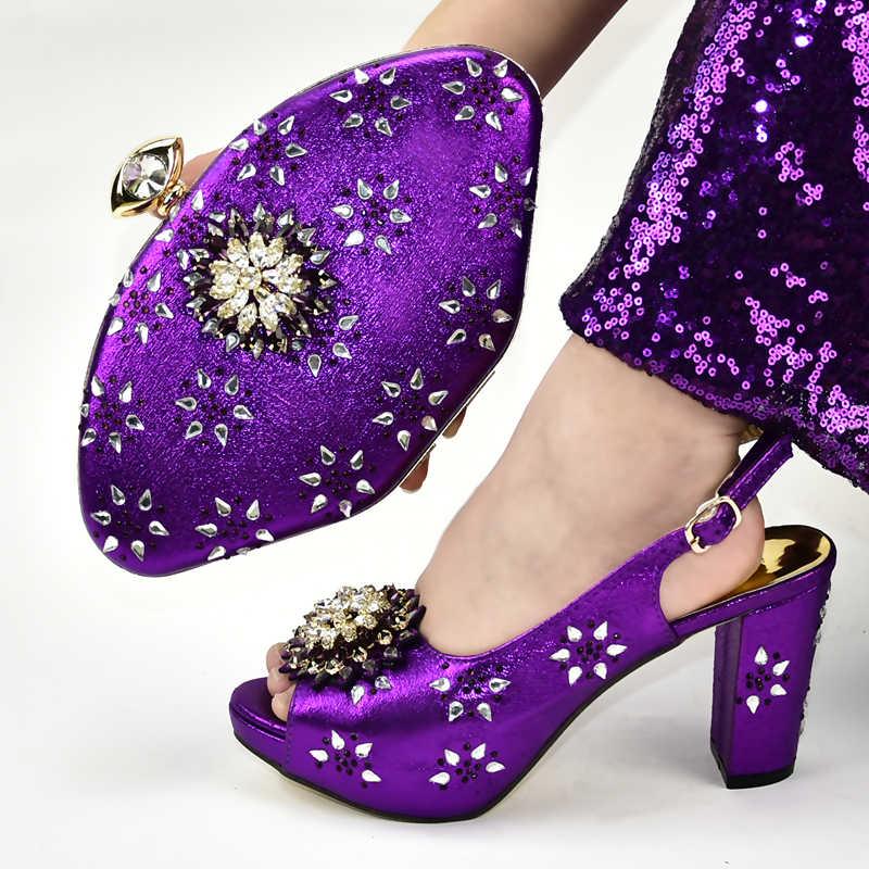 スリヴァー色イタリアの靴結婚式の靴女性の靴ハイヒールダイヤモンドパンプスラインストーンハイヒールの靴バッグ