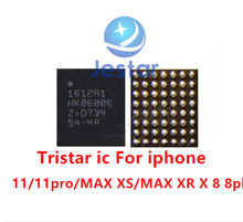 10 pçs/lote novo original 1612a1 u2 u6300 usb tristar carregador de carregamento ic 56 pinos para iphone 11/pro/max xs/max xr x 8 mais se2