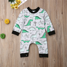 Dinosaur Print Baby Boys Romper 2019 Autumn Long Sleeve Anim