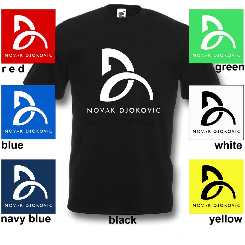 New Logo Novak Djokovic Tennis Champions T Shirt Sport Winner Mens Shirt S 2xl T Shirts Aliexpress