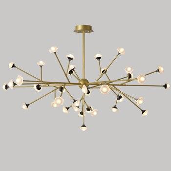 Подвесной светильник в скандинавском стиле, современный светодиодный подвесной светильник, белый подвесной светильник, алюминиевый свети...