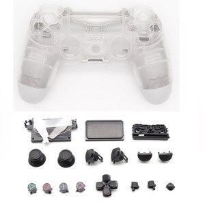 Image 2 - Volle Gehäuse Shell Cover Fall Kristall Klar für Playstation 4 Pro PS4 Schlank Pro Controller 4,0 JDS 040 JDM 040 Version 2 Gen