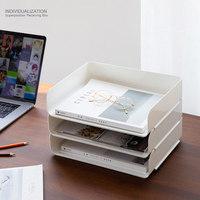 Newly Stackable Desktop Storage Box Cosmetics Office Books Documents Storage Case MK|Home Office Storage|   -