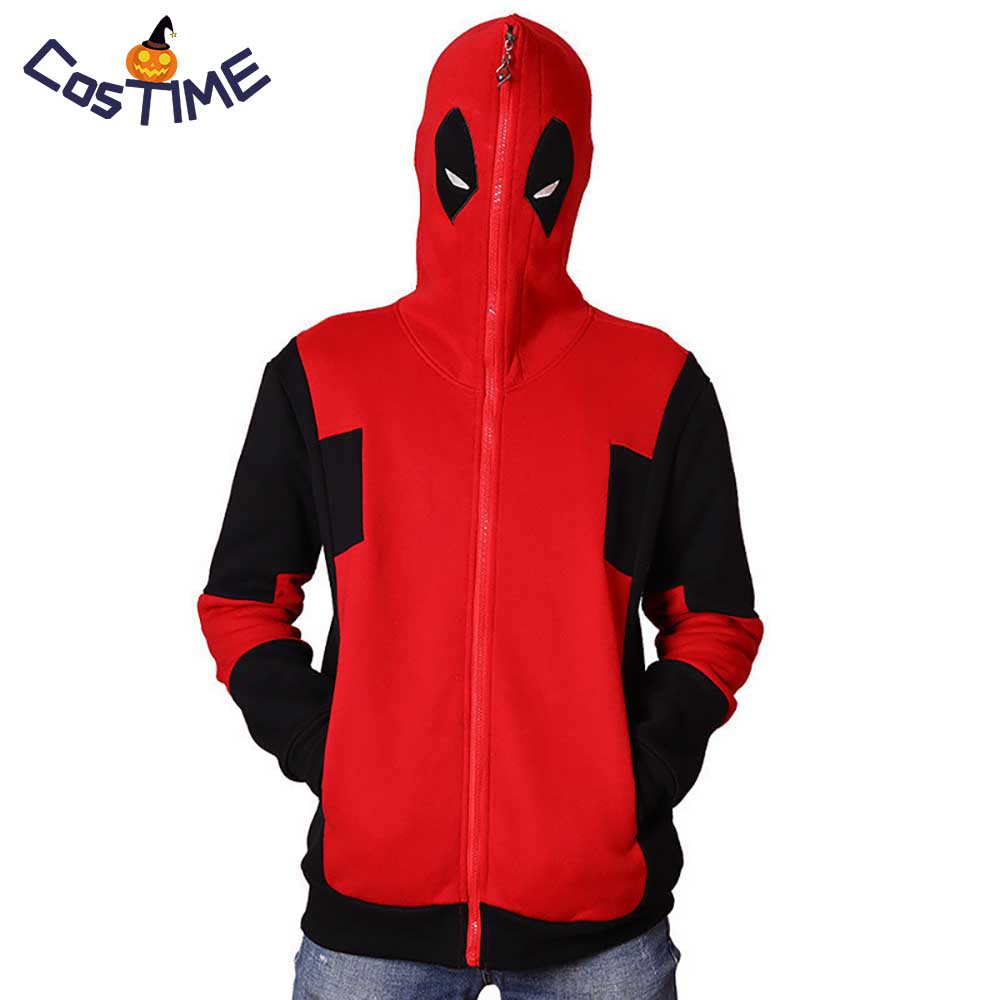 Deadpool Adult Zip-Up Hoodie Costume