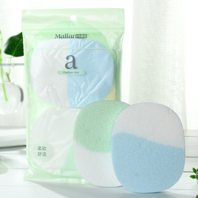 Malian Facial Cleaning Puff Cleaning Face Wash Sponges Cotton Cleaning Sponge Seaweed Cleansing Buff Makeup Puff Cleansing 2 Pie 1
