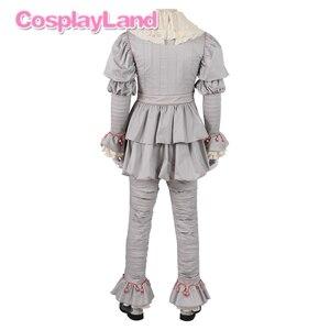 Image 3 - Stephen King S Het 2 Cosplay Kostuum Het Dancing Clown Pennywise Volledige Pak Halloween Party Terreur Movie Cosplay Outfit Laarzen