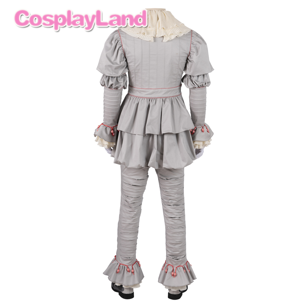 Image 3 - Stephen Kings It 2 Cosplay Costume IT Dancing Clown Pennywise  Full Suit Halloween Party Terror Movie Cosplay Outfit BootsMovie