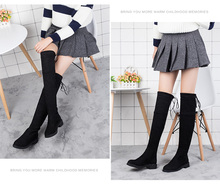 Over-the-Knee Boots  plus Velvet New Style Thin Autumn Shoes Boots \N Flat Frye Boot frye womens diana stud short boot