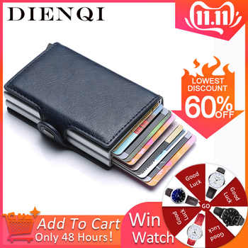 Rfid Blocking Protection Men id Credit Card Holder Wallet Leather Metal Aluminum Business Bank Card Case CreditCard Cardholder - SALE ITEM Luggage & Bags