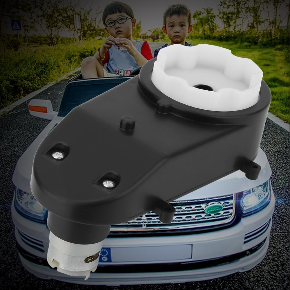 RS380 Worm Gearbox Universal Children Electric Car Gearbox With Motor Kids Ride On Car Baby 6V5000 6V5500 12V5000 12V5600Rpm