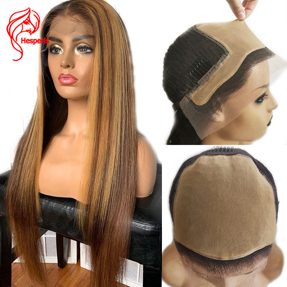 Hesperis Fake Scalp Wig 13x6 Blond Lace Front Human Hair Wig Indian Remy Hair Silky Straight Pre Plucked 130-150 Density