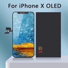 5 adet/grup kaliteli AAA Gx AMOLED hiçbir ölü piksel IPhone X LCD ekran dokunmatik ekran 5.8 sayısallaştırıcı meclisi değiştirme pantalla