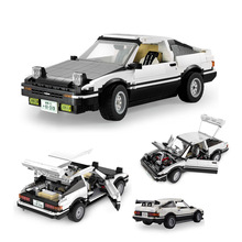 1234pcs High-tech AE86 Drift Racing Car Model Building Blocks City Speed Super Sports Car Cada Vehicle Bricks Kids Toy Boys Gift